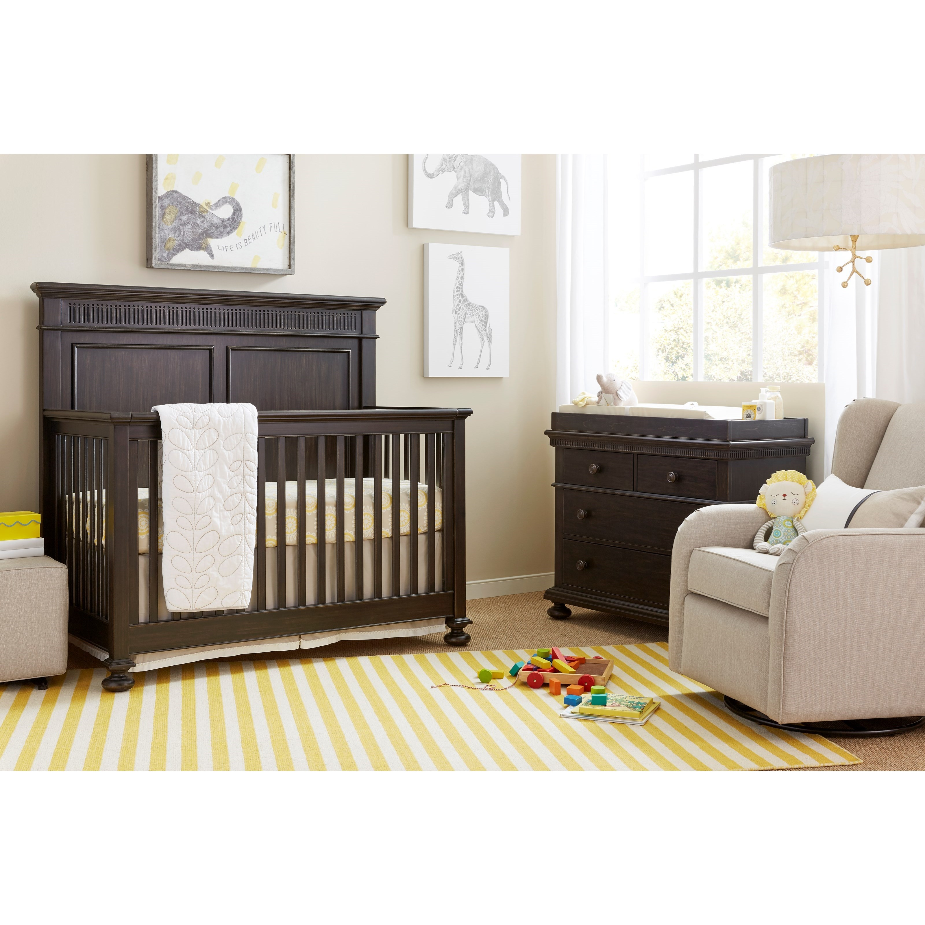 Stone & Leigh Furniture Smiling Hill Crib Bedroom Group - Item Number: 560-83 C Bedroom Group 1