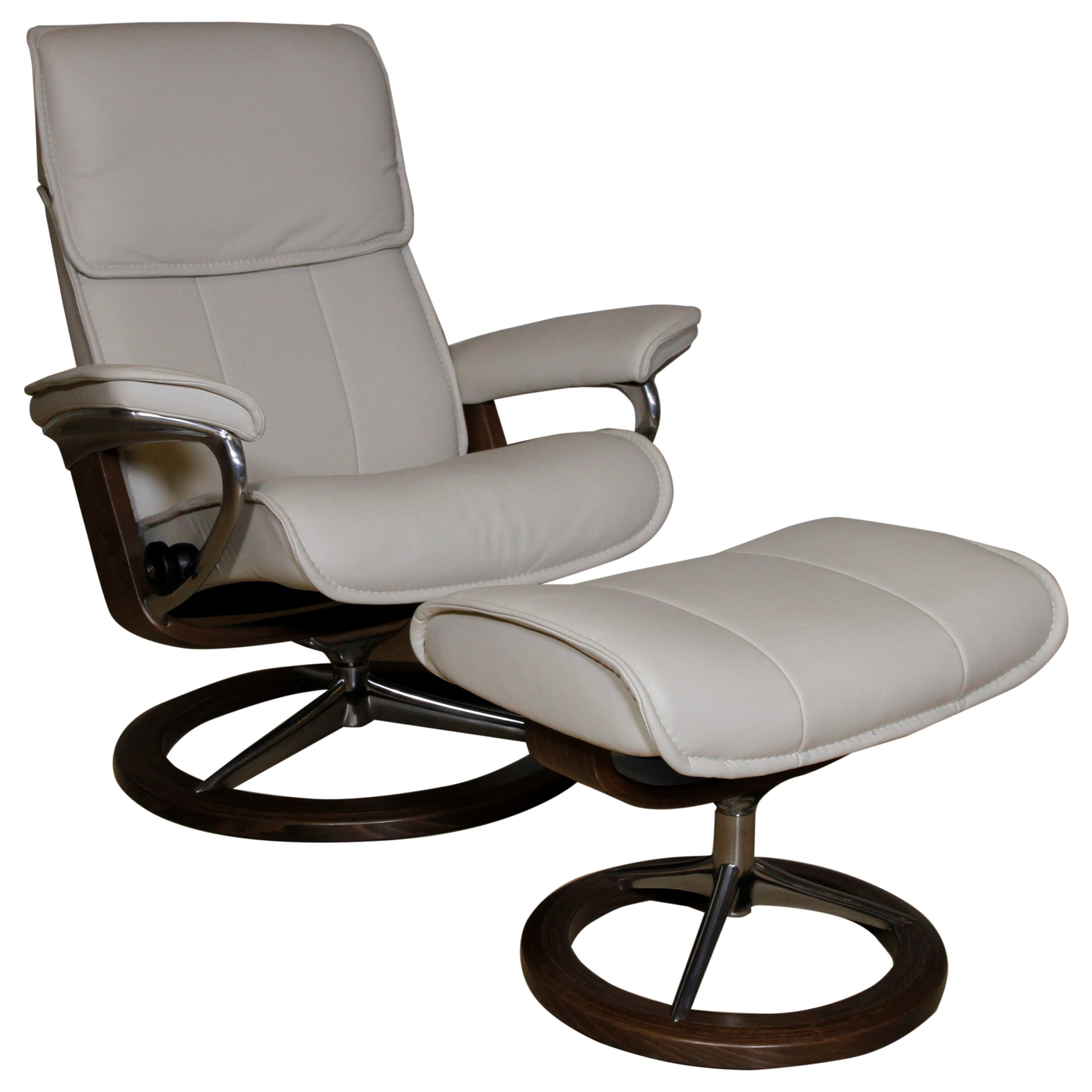 Admiral Large Reclining Chair and Ottoman by Stressless at Fashion Furniture