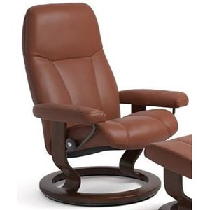 Small Reclining Chair with Classic Base