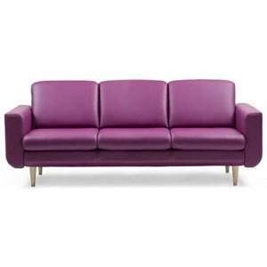 Stressless Joy 3 Seater Trio Cushion Reclining Sofa