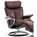 Stressless Magic Small Reclining Chair with Signature Base - Item Number: 1273310