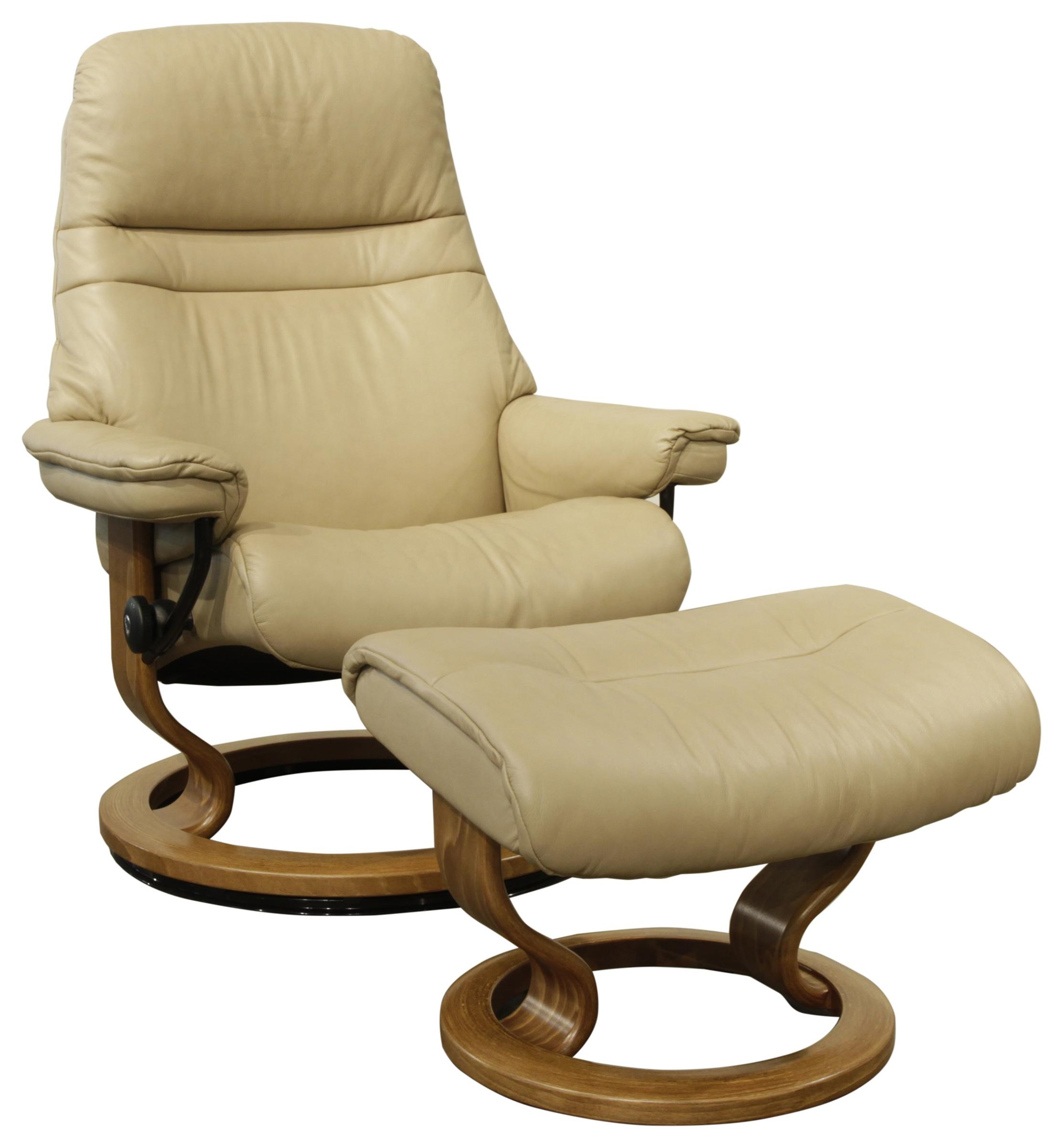 Small Chair With Ottoman: Stressless Sunrise Small Stressless Chair & Ottoman