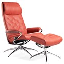 Stressless Metro High Back Recliner and Ottoman - Item Number: 1292325
