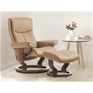 Classic Medium Reclining Chair and Ottoman