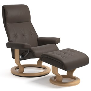 Stressless Sky Medium Reclining Chair and Ottoman