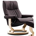 Stressless Crown Small Reclining Chair with Classic Base - Item Number: 1293010