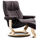 Stressless Crown Large Reclining Chair with Classic Base - Item Number: 1296010
