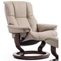 Stressless Mayfair Small Reclining Chair with Classic Base - Item Number: 1059010