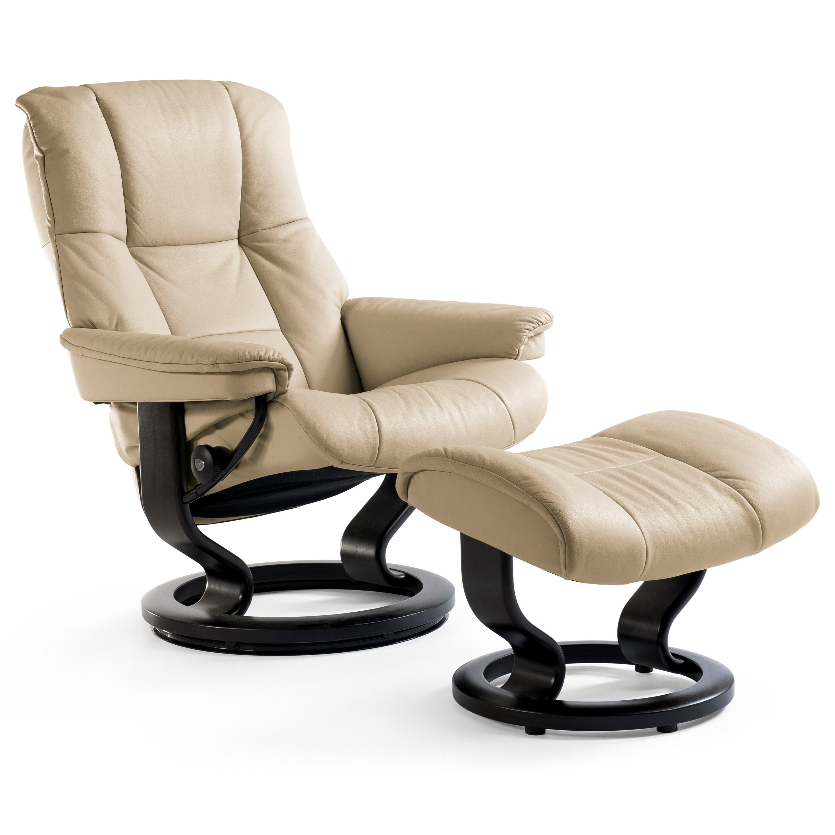 Small Chair With Ottoman: Stressless Mayfair 1059015 Small Reclining Chair & Ottoman