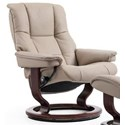Stressless Mayfair Medium Reclining Chair with Classic Base - Item Number: 1731010