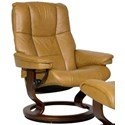 Stressless Mayfair Medium Reclining Chair with Classic Base - Item Number: 17310100948403