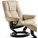 Stressless Mayfair Large Reclining Chair with Classic Base - Item Number: 17320100942103