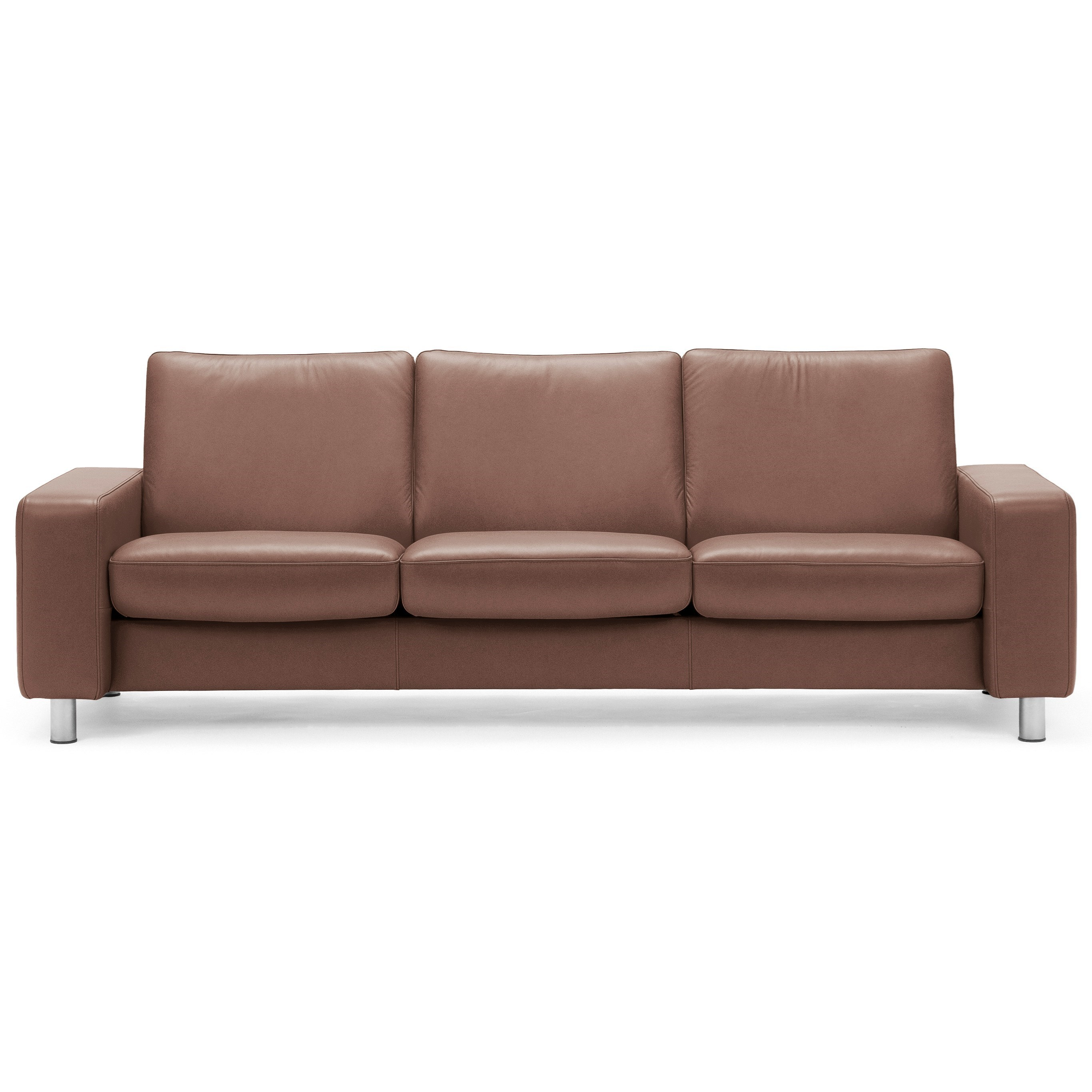 Stressless Stressless Pause Low Back Reclining Sofa   Item Number:  1416030 Paloma Vanilla