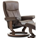 Stressless Peace Small Reclining Chair with Classic Base - Item Number: 1315010