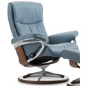 Stressless Peace Small Reclining Chair with Signature Base - Item Number: 1315310