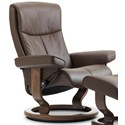 Stressless Peace Medium Reclining Chair with Classic Base - Item Number: 1316010