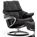 Stressless Reno Medium Reclining Chair with Signature Base - Item Number: 1169310