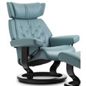 Stressless Skyline Medium Reclining Chair with Classic Base - Item Number: 1305010