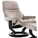 Stressless Sunrise Small Reclining Chair with Classic Base - Item Number: 1219010