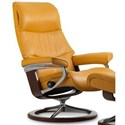Stressless View Small Reclining Chair with Signature Base - Item Number: 1306310