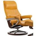 Stressless View Medium Reclining Chair with Signature Base - Item Number: 1307310