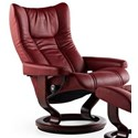 Stressless Wing Small Reclining Chair with Classic Base - Item Number: 1054010