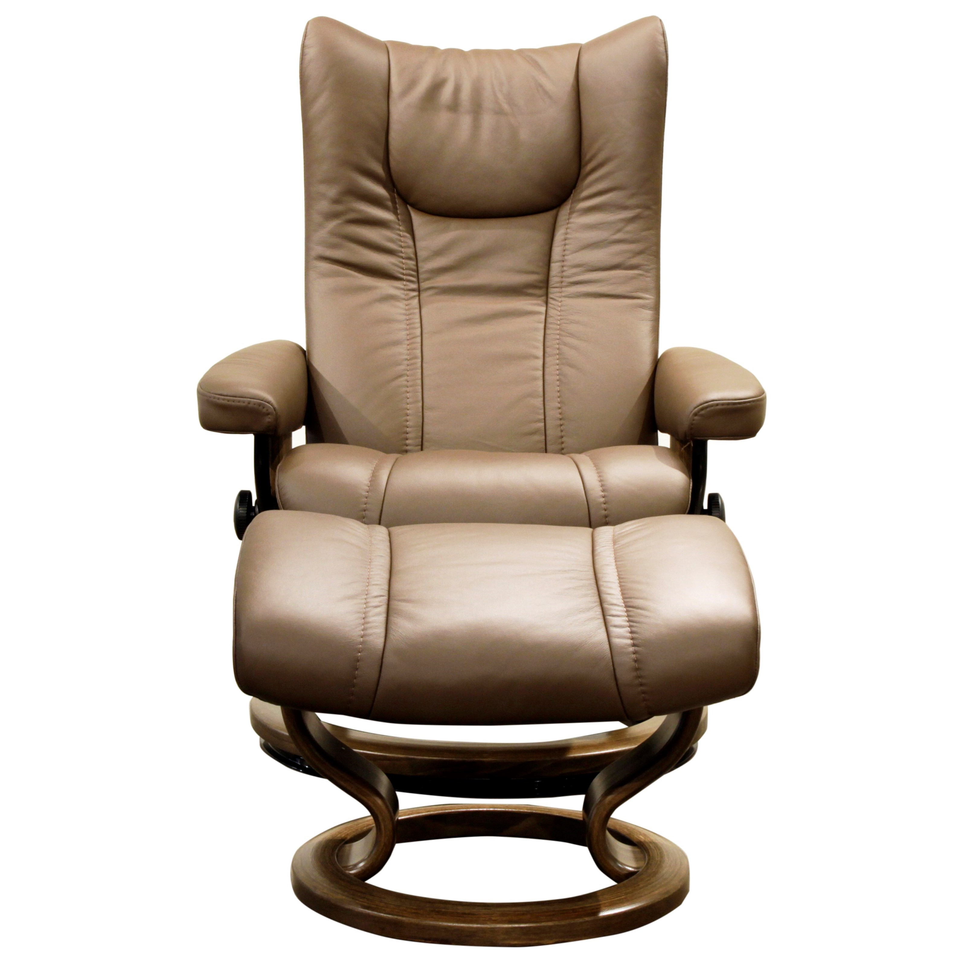 Small Chair With Ottoman: Stressless Wing 1054015 Small Reclining Chair And Ottoman