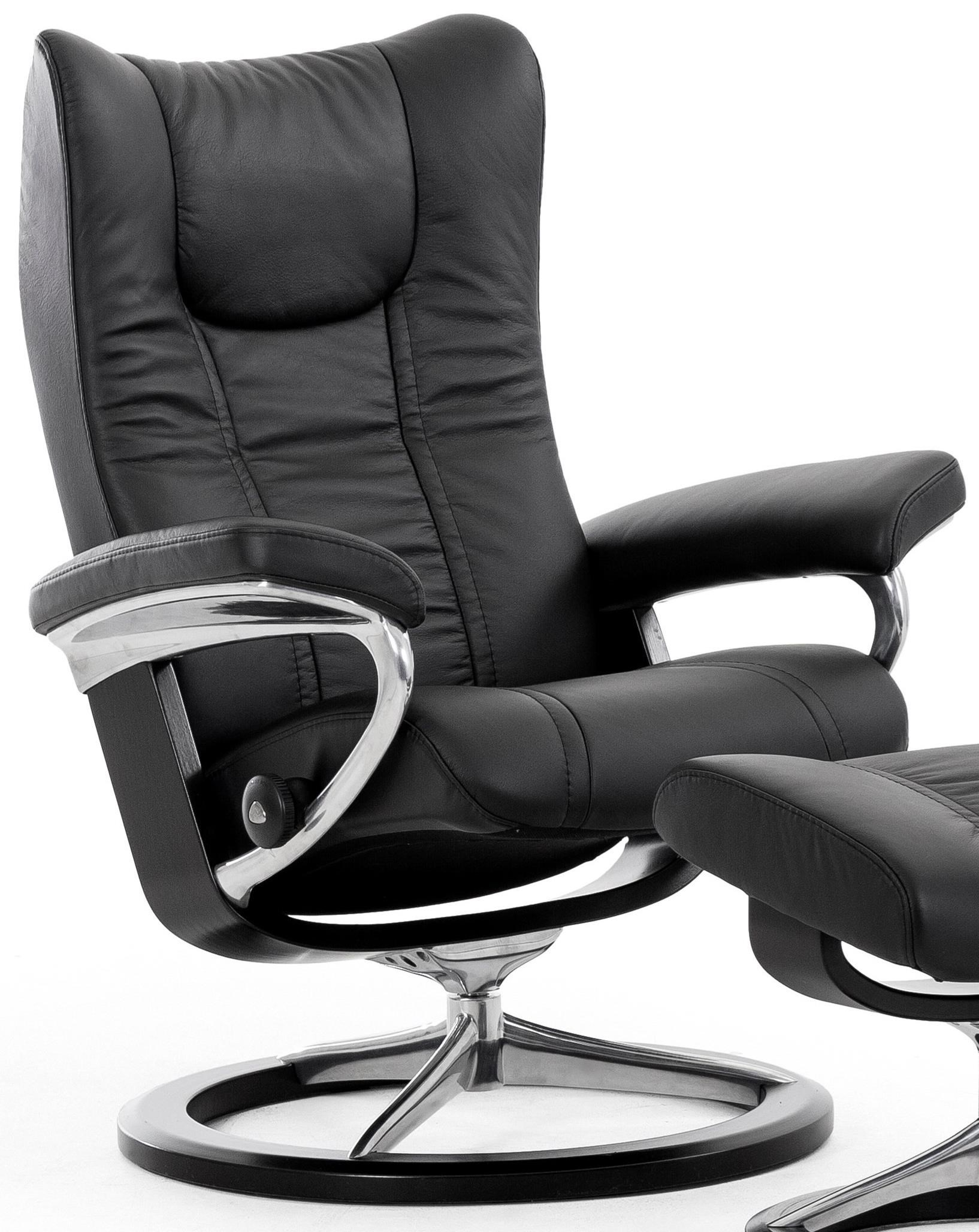 Small Reclining Chair with Signature Base