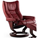 Stressless Wing Large Reclining Chair with Classic Base - Item Number: 1060010