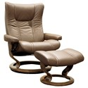 Stressless Wing Large Stressless Chair & Ottoman - Item Number: 10600150948806