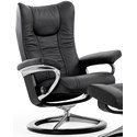 Stressless Wing Large Reclining Chair with Signature Base - Item Number: 1060310