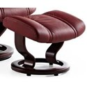 Stressless Wing Classic Base Ottoman - Item Number: 1161000