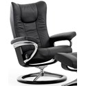 Stressless Wing Medium Reclining Chair with Signature Base - Item Number: 1161310