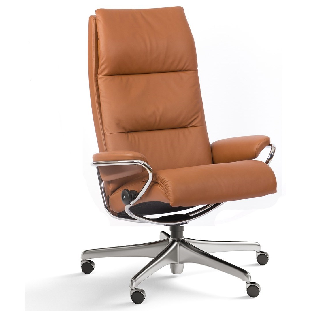 High Back Office Chair with Star Base