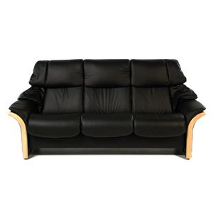 Stressless by Ekornes Eldorado High Back Reclining Sofa: Batick Black