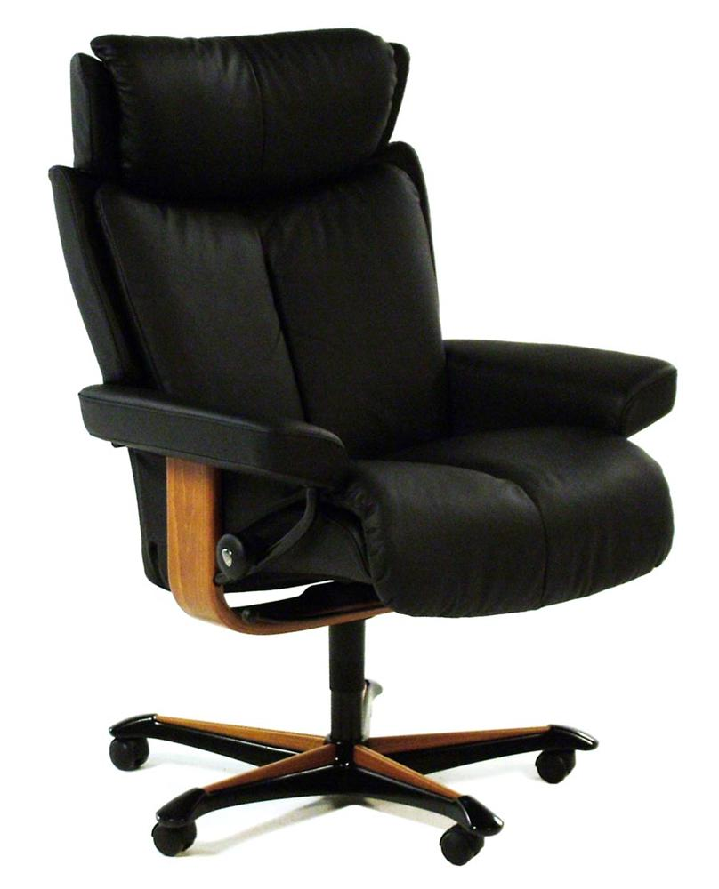 Stressless By Ekornes Stressless Office Magic Medium Office Chair   Item  Number: R61177086