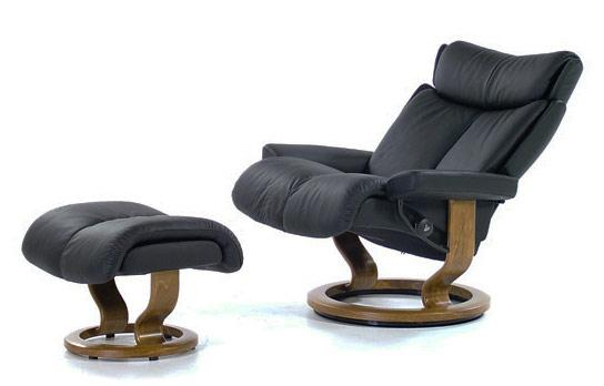 Stressless Magic Large Chair U0026 Ottoman With Classic Base   Item Number:  01143015 MAGIC