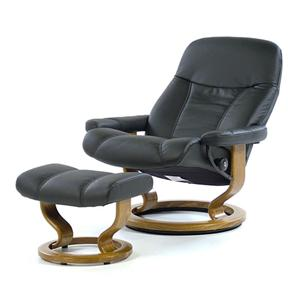 Stressless by Ekornes Stressless Recliners Consul Large Recliner & Ottoman