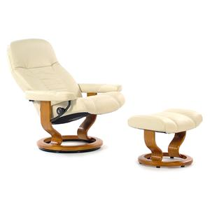 Stressless by Ekornes Stressless Recliners Consul Medium Recliner & Ottoman