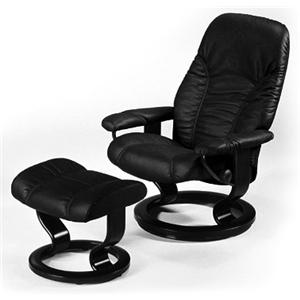 Stressless by Ekornes Stressless Recliners Consul Small Recliner and Ottoman