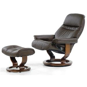 Stressless by Ekornes Stressless Recliners Sunrise Recliner and Ottoman