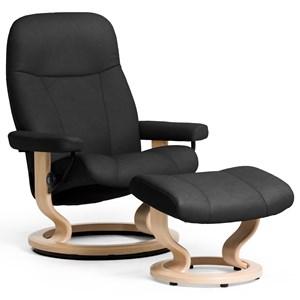 Stressless by Ekornes Garda Reclining Chair & Ottoman