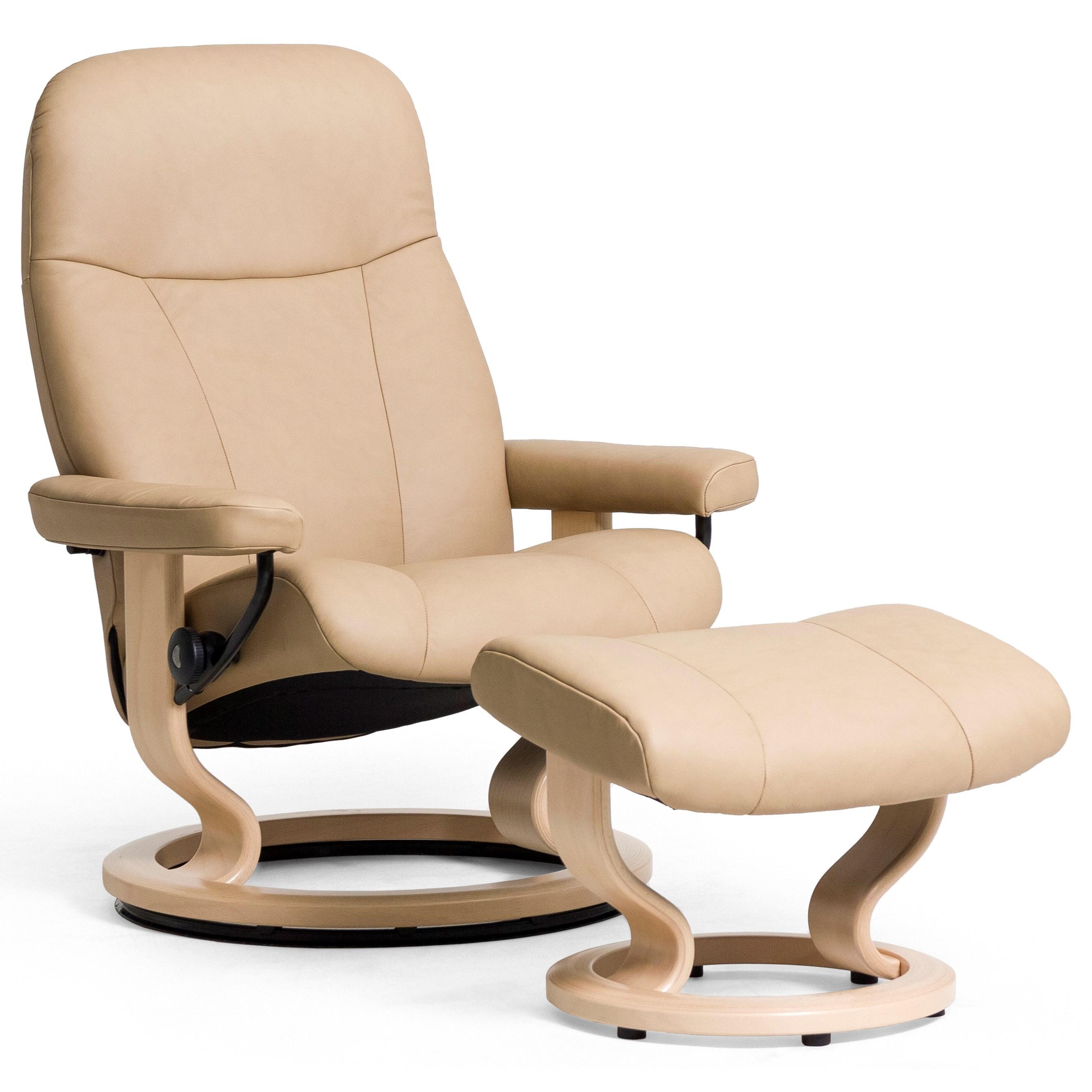 Stressless by Ekornes Garda Medium Stressless Chair & Ottoman - Item Number: 13290150942101