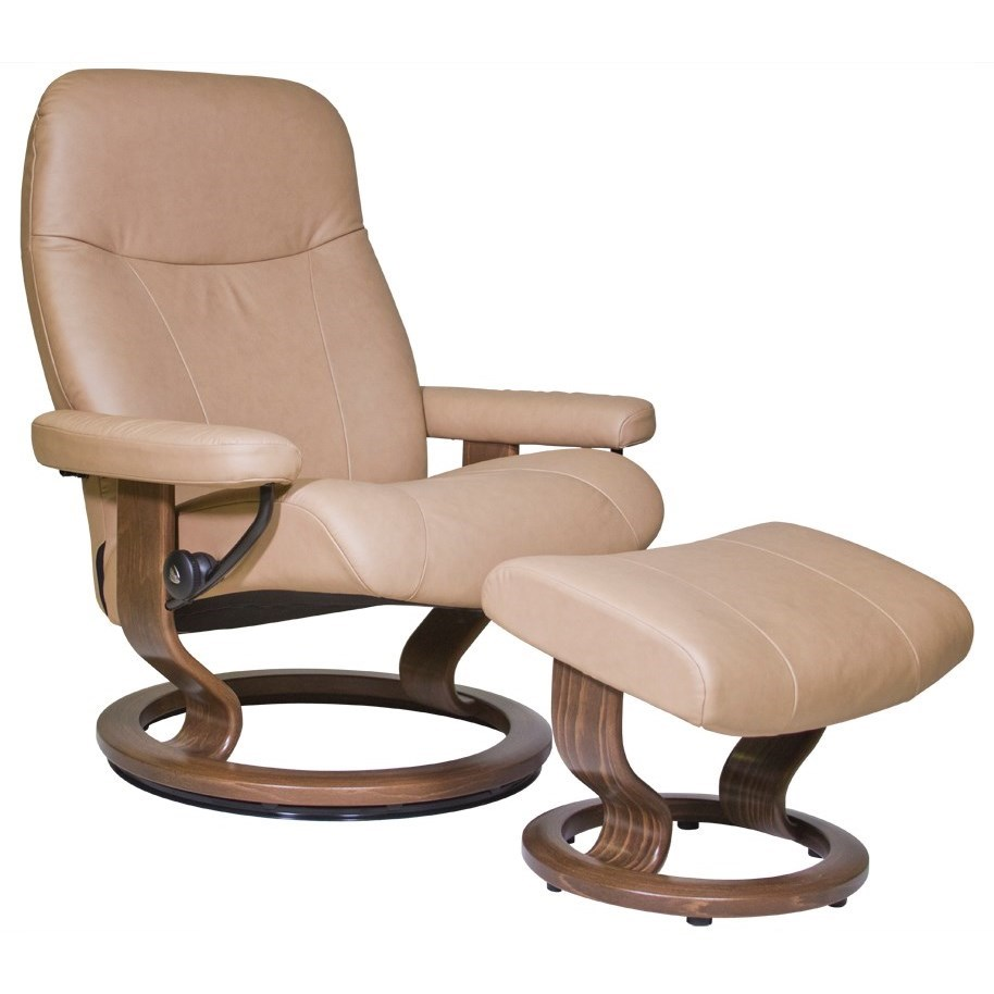 Stressless Garda Large Stressless Chair & Ottoman - Item Number: 13300150942106