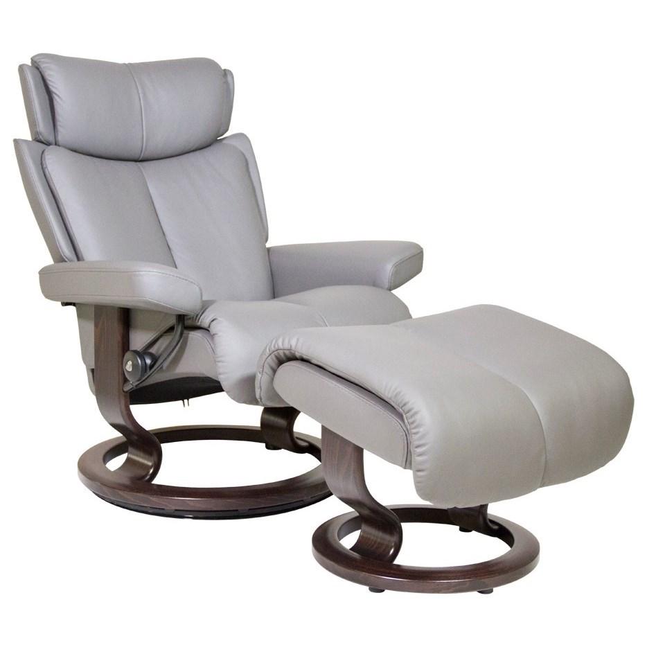 Small Chair With Ottoman: Stressless Magic 1273015 Small Reclining Chair & Ottoman