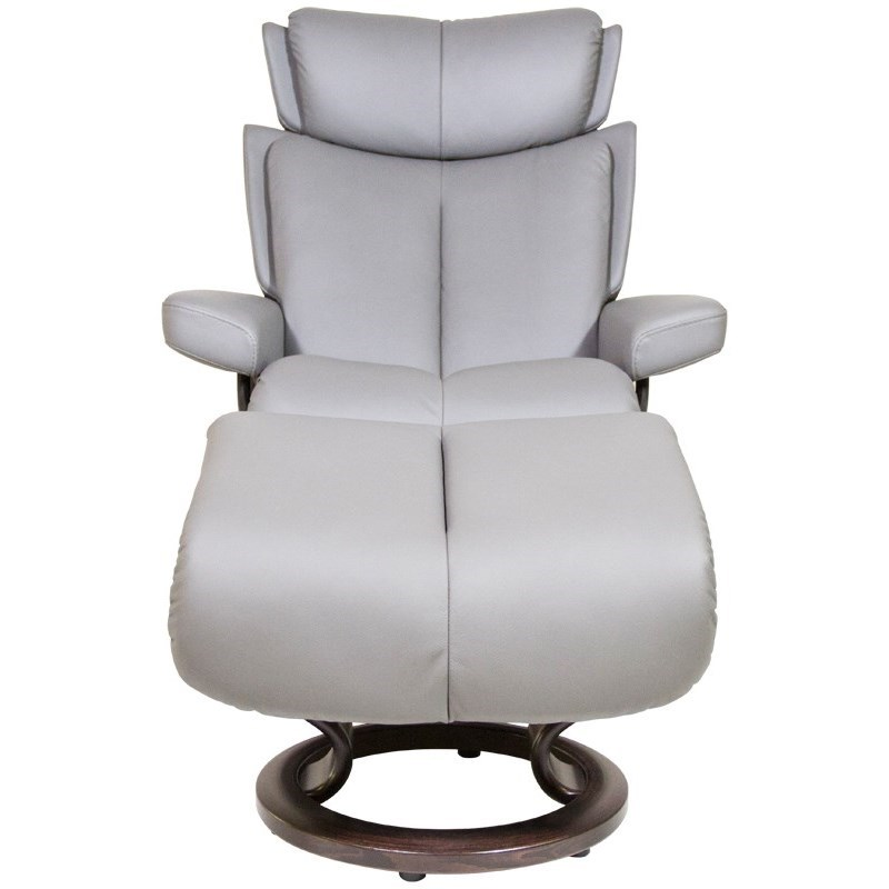 Small Chair With Ottoman: Stressless Magic Small Reclining Chair & Ottoman With