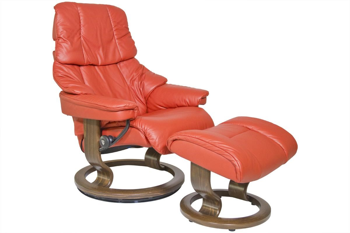 Stressless by Ekornes Reno Small Stressless Chair & Ottoman - Item Number: 10310150940106
