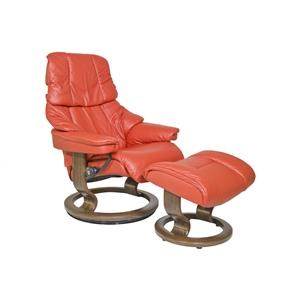 Stressless by Ekornes Reno Small Stressless Chair & Ottoman