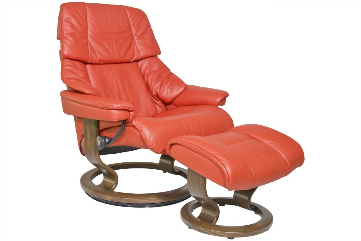 Stressless by Ekornes Reno Large Stressless Chair & Ottoman - Item Number: 11640150940106