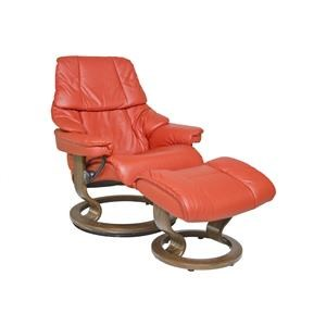 Stressless by Ekornes Reno Medium Stressless Chair & Ottoman